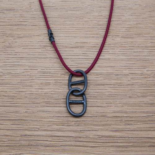 THETA CHAIN NECKLACE/ SILVER925 /OXIDIZED