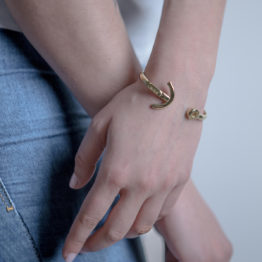 ANCHOR CUFF / SILVER 925 /GOLD PLATED