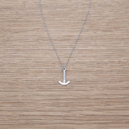 MINI ANCHOR NECKLACE / SILVER 925 / PLATINUM PLATED