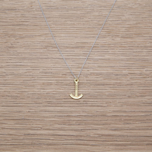 MINI ANCHOR NECKLACE / SILVER 925 / GOLD PLATED